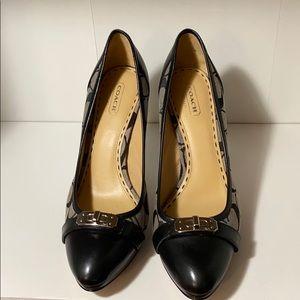 Brand new gray & black heels.